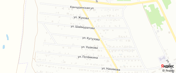 Улица Кутузова на карте Кумертау с номерами домов