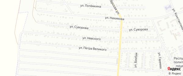 Улица Невского на карте Кумертау с номерами домов
