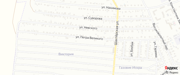 Улица Петра Великого на карте Кумертау с номерами домов