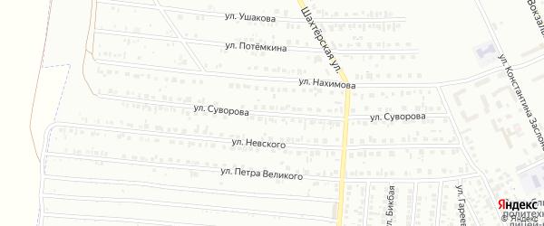 Улица Суворова на карте Кумертау с номерами домов