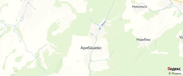 Карта Шулгановского сельсовета республики Башкортостан с районами, улицами и номерами домов