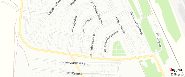 Улица Джалиля на карте Кумертау с номерами домов
