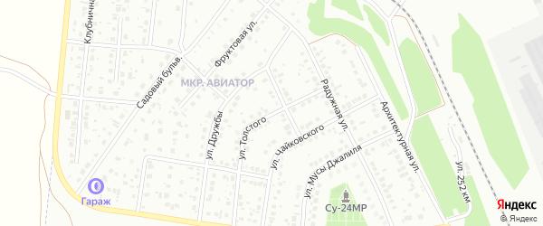 Улица Толстого на карте Кумертау с номерами домов
