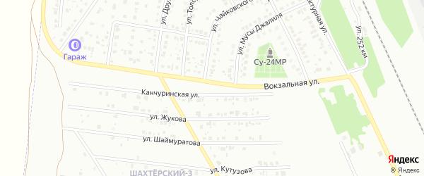 Канчуринская улица на карте Кумертау с номерами домов