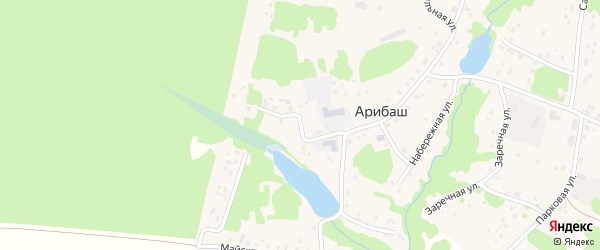 Школьная улица на карте деревни Арибаша с номерами домов