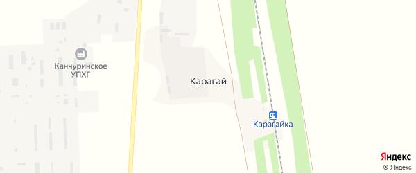 Карагаевская улица на карте деревни Карагая с номерами домов