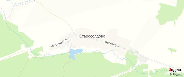 Карта деревни Старосолдово в Башкортостане с улицами и номерами домов