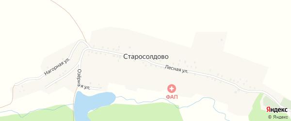 Нагорная улица на карте деревни Старосолдово с номерами домов