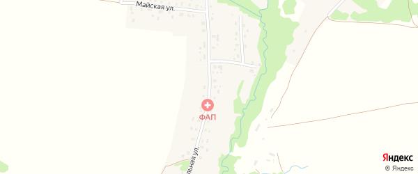 Центральная улица на карте деревни Арибаша с номерами домов
