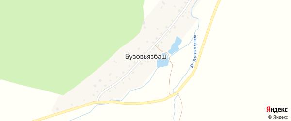 Лесная улица на карте деревни Бузовьязбаша с номерами домов