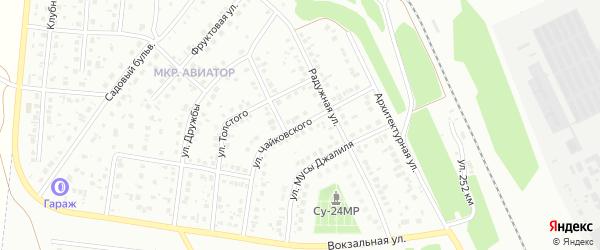 Улица Чайковского на карте Кумертау с номерами домов