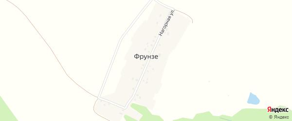 Нагорная улица на карте деревни Фрунзе с номерами домов
