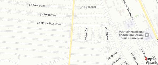 Улица Биктимирова на карте Кумертау с номерами домов