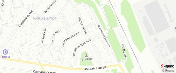 Радужная улица на карте Кумертау с номерами домов