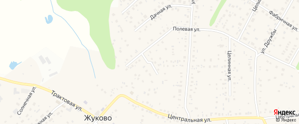 Заречная улица на карте села Жуково с номерами домов