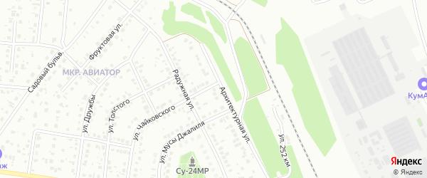 Массив 16 Архитектурная улица на карте Кумертау с номерами домов