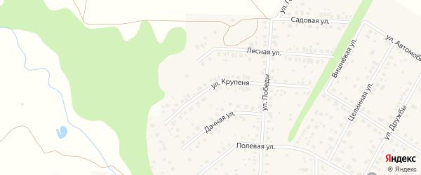 Улица Крупеня на карте села Жуково с номерами домов