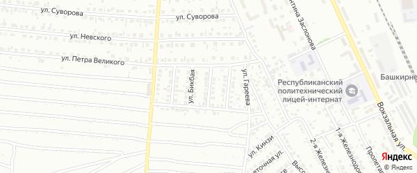 Улица Строителей на карте Кумертау с номерами домов