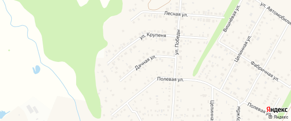 Дачная улица на карте села Жуково с номерами домов