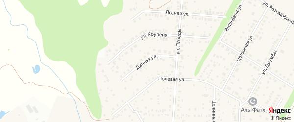 Дачная улица на карте Уфы с номерами домов