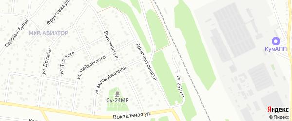 Архитектурная улица на карте Кумертау с номерами домов