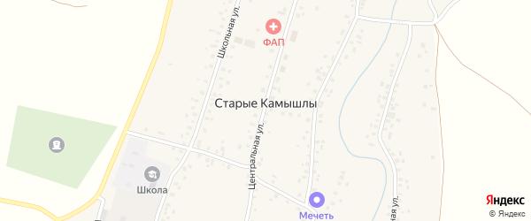 Улица Басистова на карте села Старых Камышлы с номерами домов