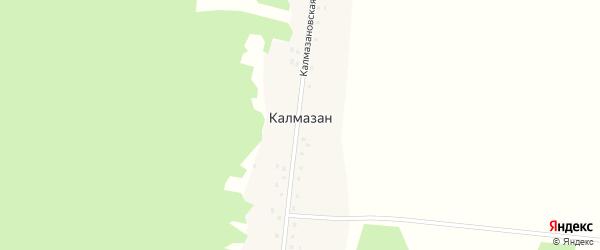 Калмазановская улица на карте деревни Калмазана с номерами домов