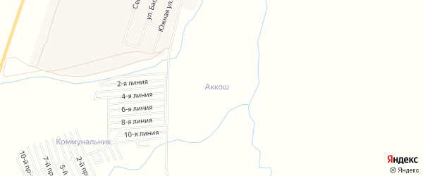 Ст Аккош на карте Кушнаренковского района с номерами домов