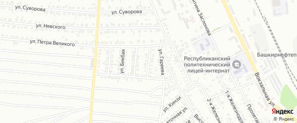 Солнечная улица на карте Кумертау с номерами домов