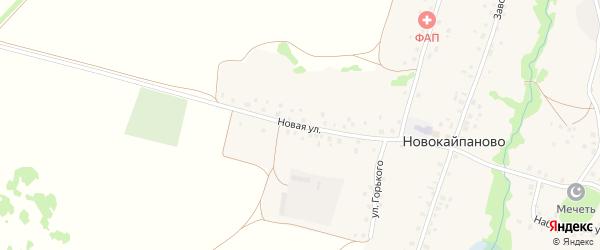Новая улица на карте села Новокайпаново с номерами домов