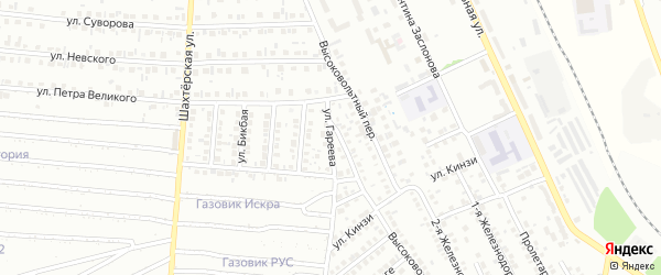Улица Гареева на карте Кумертау с номерами домов