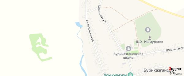 Октябрьская улица на карте села Буриказганово с номерами домов