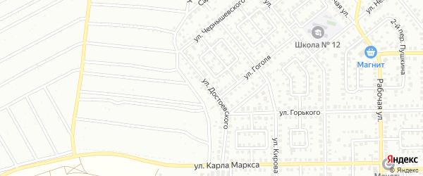 Улица Достоевского на карте Кумертау с номерами домов