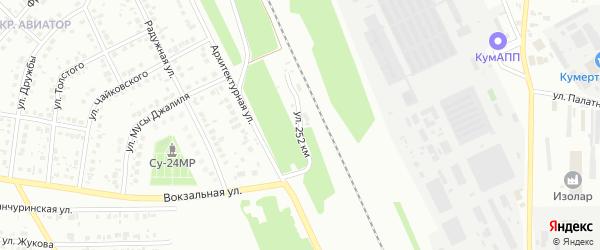 Улица 252 км на карте Кумертау с номерами домов
