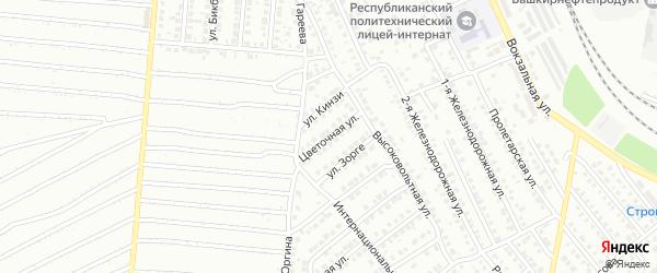Цветочная улица на карте Кумертау с номерами домов
