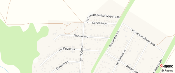 Лесная улица на карте села Жуково с номерами домов