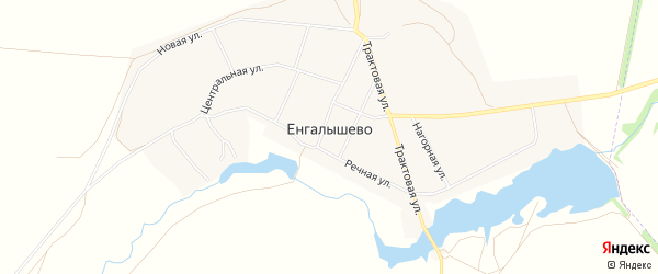 СТ СНО Березка на карте села Енгалышево с номерами домов