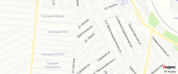 Улица Зорге на карте Кумертау с номерами домов