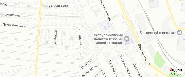 Высоковольтный переулок на карте Кумертау с номерами домов