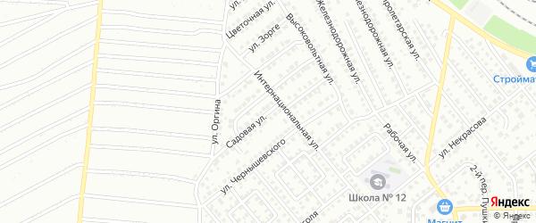 Садовая улица на карте Кумертау с номерами домов
