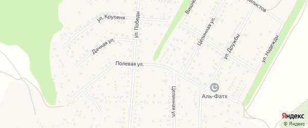 Полевая улица на карте села Жуково с номерами домов