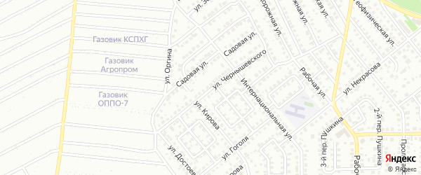 Улица Чернышевского на карте Кумертау с номерами домов