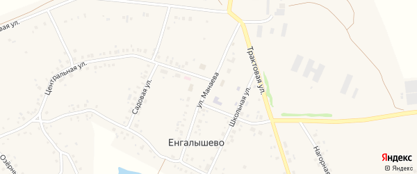 Улица Манаева на карте села Енгалышево с номерами домов