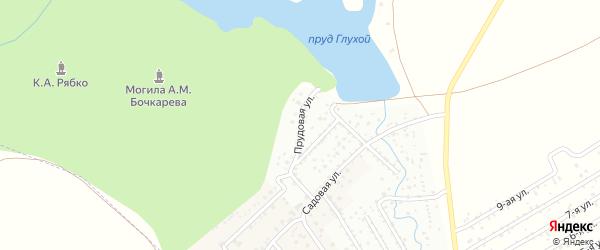 Прудовая улица на карте деревни Ясного с номерами домов