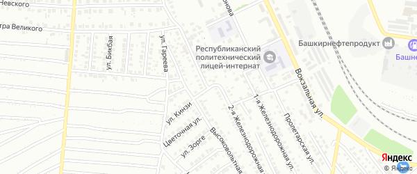 Улица Кинзи на карте Кумертау с номерами домов