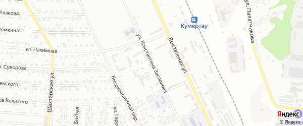 Улица Заслонова на карте Кумертау с номерами домов