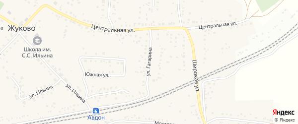 Улица Гагарина на карте села Жуково с номерами домов