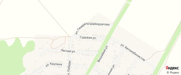 Садовая улица на карте села Жуково с номерами домов
