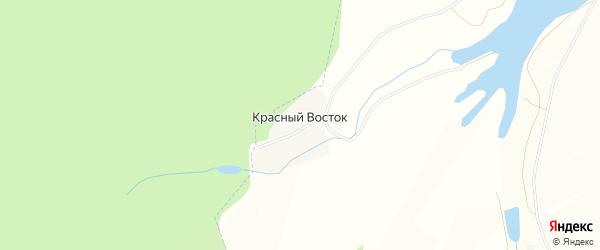 Карта поселка Красный Восток (Ибраевский с/с) в Башкортостане с улицами и номерами домов