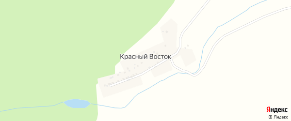 Центральная улица на карте деревни Красный Восток (Меселинский с/с) с номерами домов